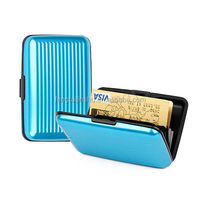 SCANSAFE RFID Identity Protection ALUMINUM CARD CASE 7 Slot Accordion Pocket