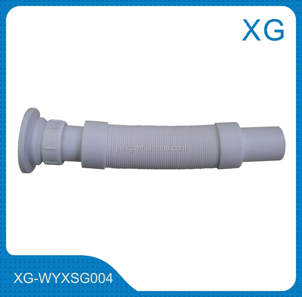 Kitchen Sink Drain Pipe/Plastic Flexible Sewer Tube/wash Basin Drain Hose  For India
