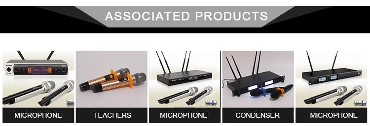 OEM Unidirecional Eletreto Profissional Sistema De Microfone Sem Fio Microfone Escondido