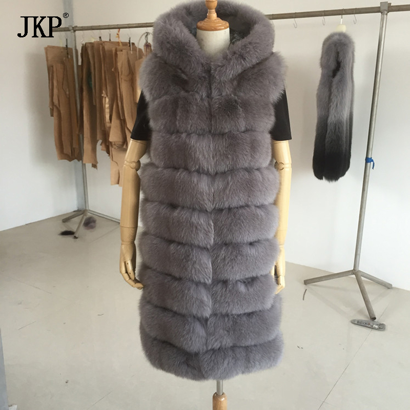 Winter Fox Fur Coat Women Real Fox Fur Vest
