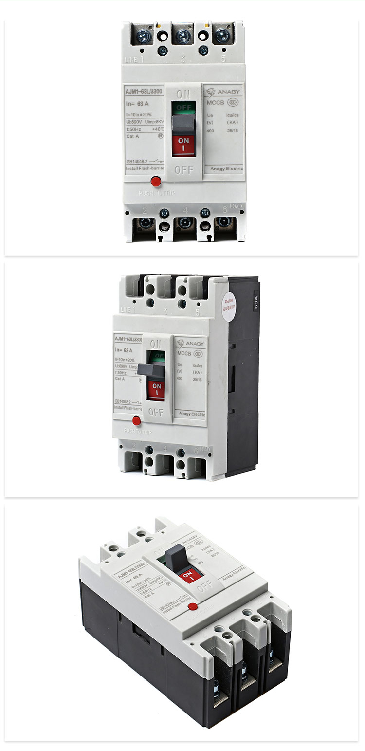 Thermal Magnetic Type Resin Timer Miniature Moulded Case Circuit Breaker With Surge Protection Device Price 3p 4p Metal Breakers