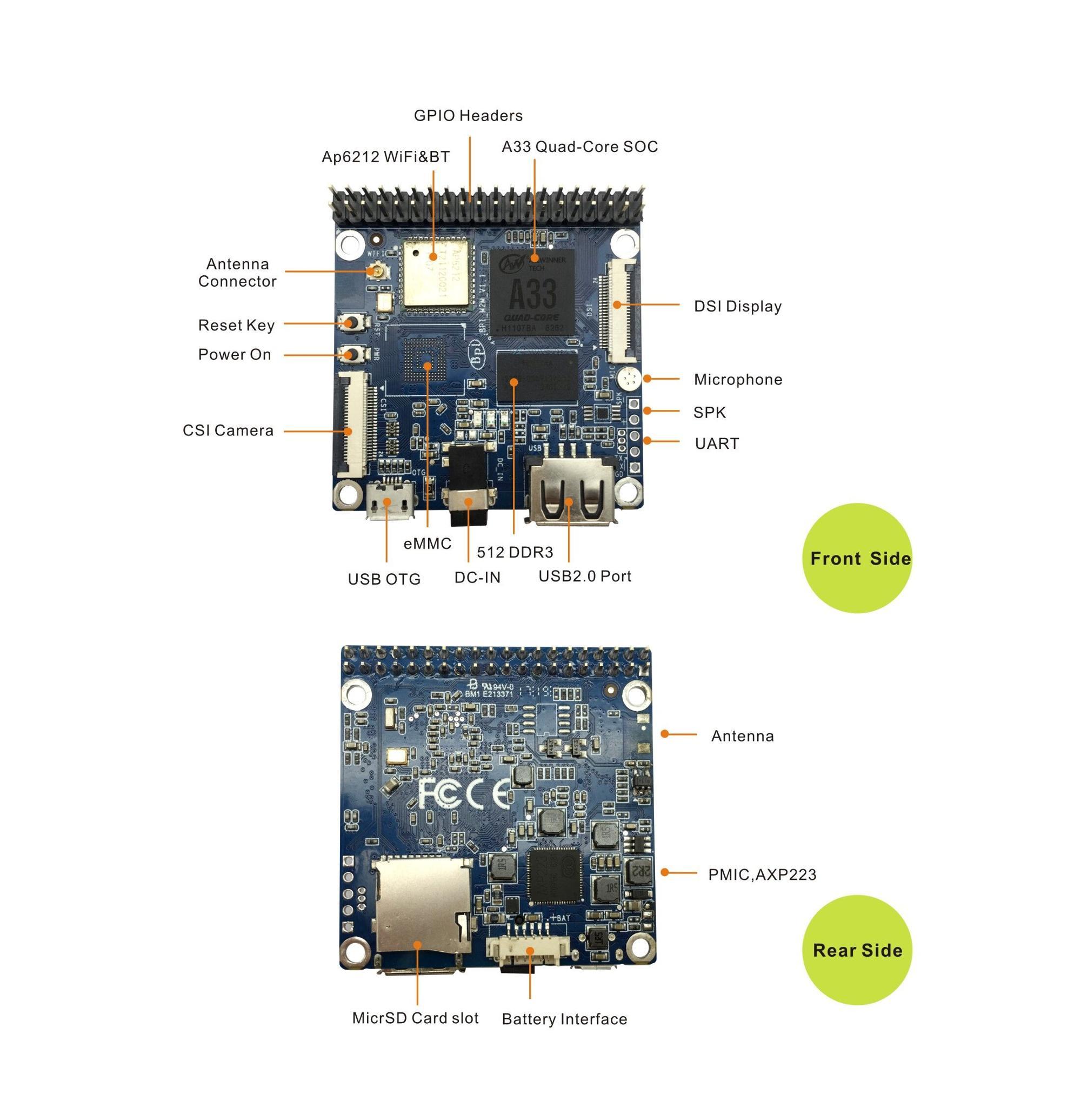 Allwinner Chips A33 Banana Pi Bpi-m2 Magic Iot Development Board 512mb -  Buy Banana Pi,A33,Iot Product on Alibaba com