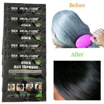 Natural Black Richenna Shampoo Based Herbal Hair Dye - Buy Natural ...