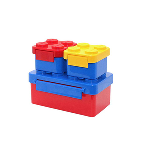 High Quality Lego Toy Block Lunch Box Kids Portable Plastic Bento Boxes