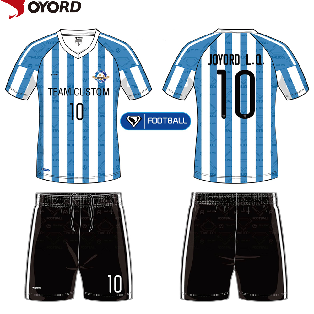 Custom sublimated polyester cheap soccer jersey set