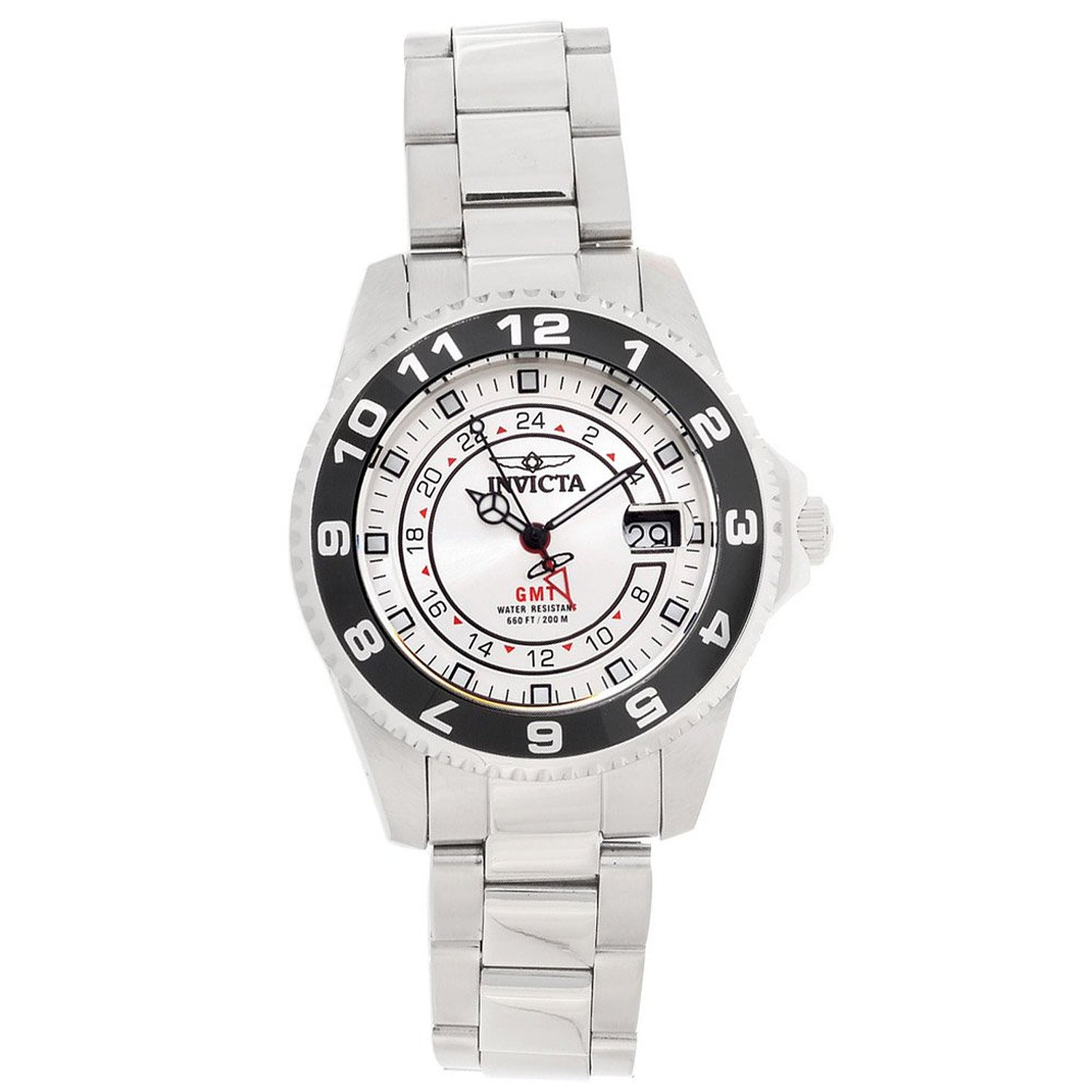 Invicta Men's 'Pro Diver' Quartz Stainless Steel Casual Watch, Color:Silver-Toned (Model: 18239)