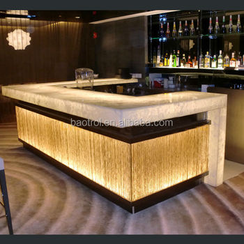 Modern restaurant bar counter design illuminated led bar counter buy illuminated led bar - Home bar counter design photo ...