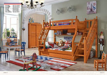 Fohsan High quality solid wood kid bed latest design child bedroom set K2205-K2208