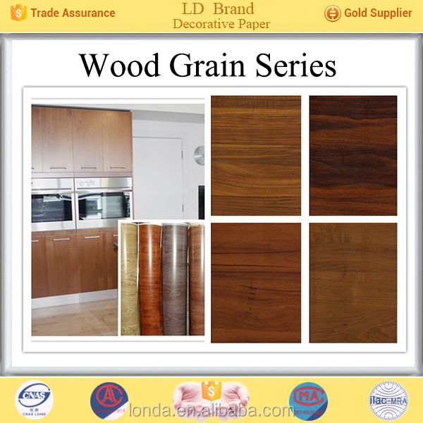 Top Manufacturer Wood grain china wood pattern joyful decorative paper for furniture panels wholesale