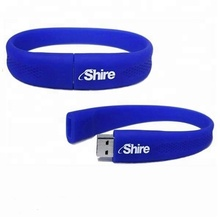 Alibaba stock custom gifts usb flash drive 8gb silicone bracelet usb with free logo