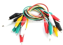 10 Pcs 5-Color Double Ended Alligator Clips Test Lead Jumper Wire 50cm