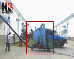Truck Ship Loader Unloader Rice Husk Air Grain Pneumatic Suction Conveyor / Conveyer