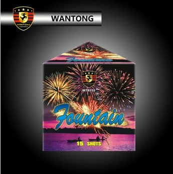 buy 0.8 inch 15 shots triangle cake fireworks