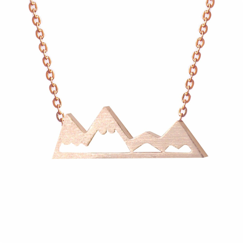 2017 New Gold Chain Design For Women Mountain Charm Necklace Cute ...