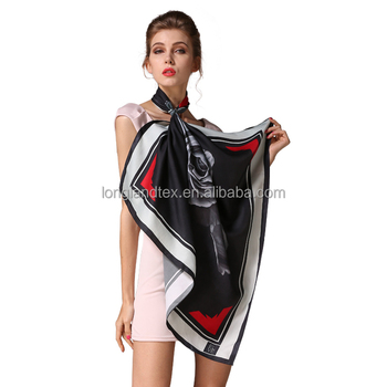 Top end digital custom printed silk scarves
