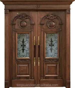 Luxury villa door wood design main entrance wood door for Best entry doors