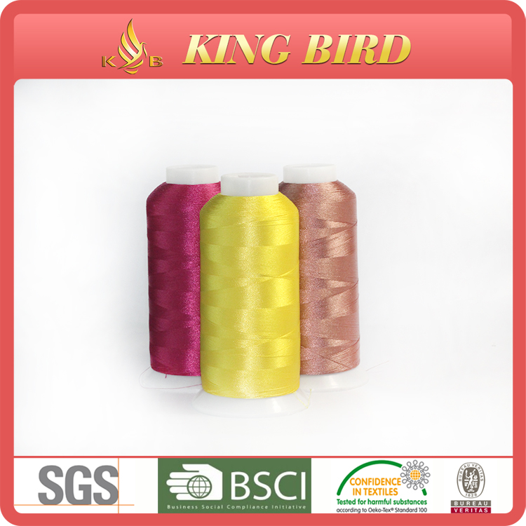 Bright color 120d2 5000yds embroidery thread price
