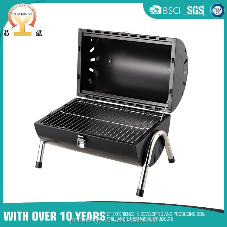 Double size working BBQ Grill / Charcoal barbecue grill / double barrel grill