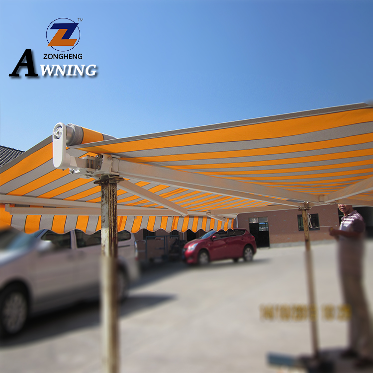 2018 Large waterproof & fireproof aluminum retractable awning