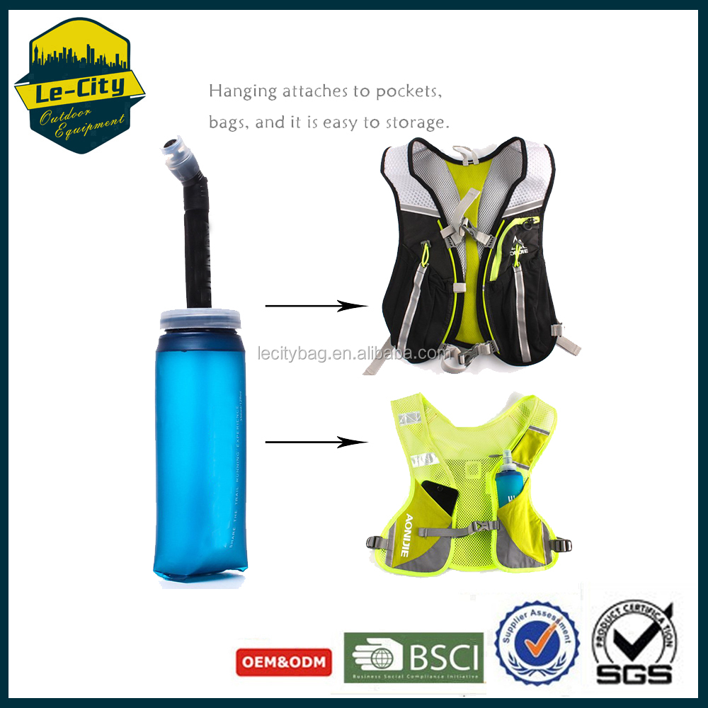 Hydration Pack Collapsible Water Bags Soft Safe Product 1L Water Bladder For Kid