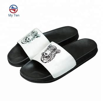 14441efaa Tiger Printing Upper Unique Design Sandals Mens Slides - Buy Mens ...