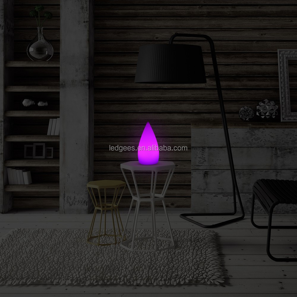 Com buy 10cm cube decorative battery operated rgb led table lamps - Led Battery Operated Color Changing Table Lamp Multicolored Led Bright Light
