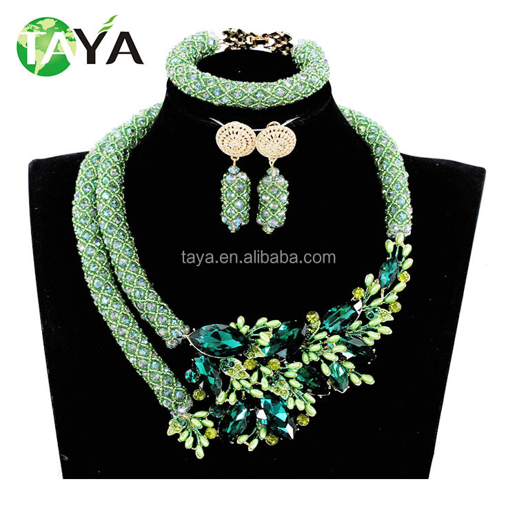 Latest Design African Beads Jewelry Sets Nigeria Beads Necklace ...