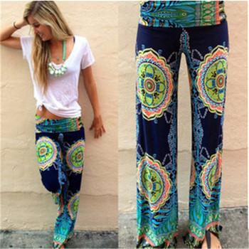 1eceb8d702 2016 New Loose Long Trousers Flare Wide Leg Pants Plus Size Elastic Waist Palazzo  Pants Fashion