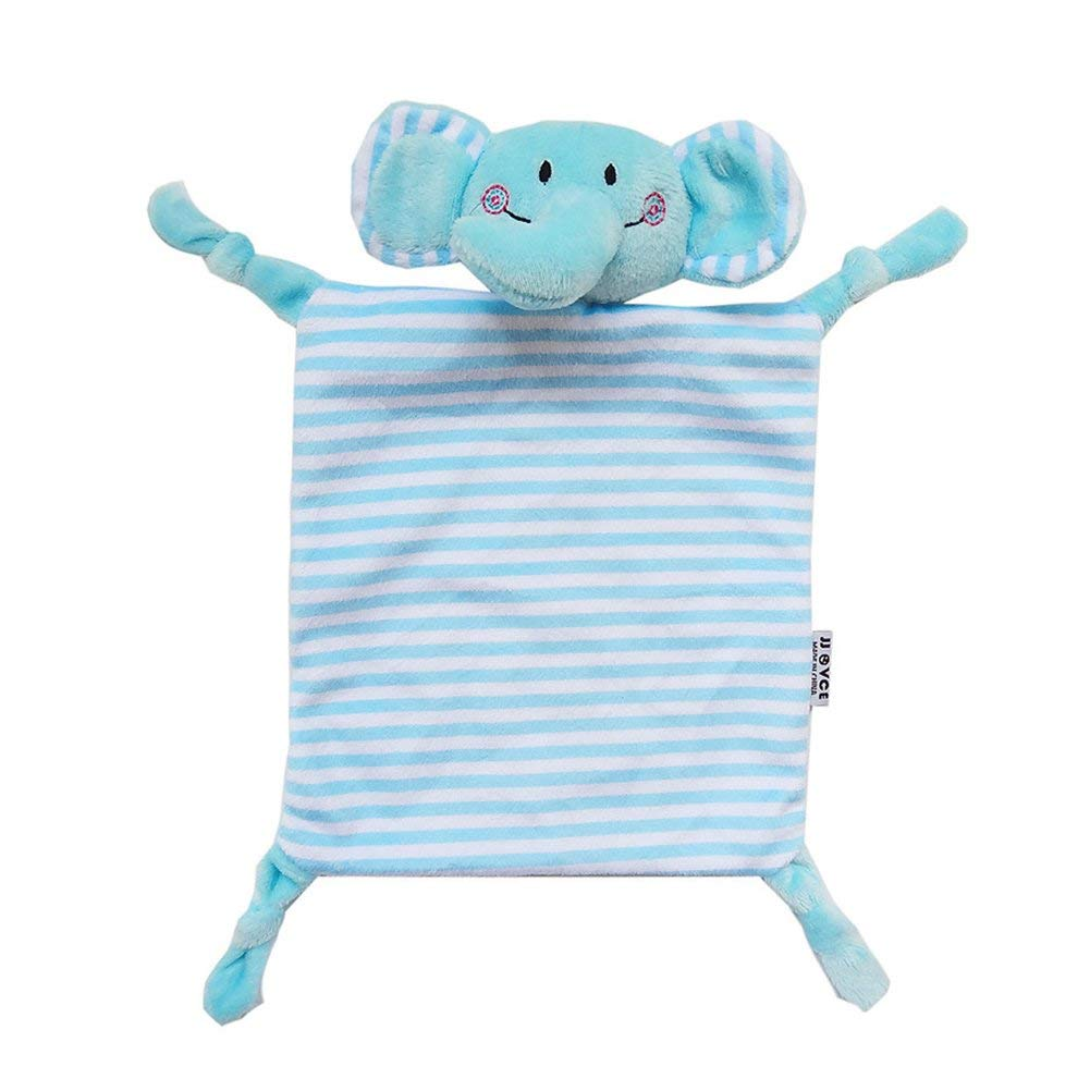 INCHANT Security Blanket Toy - Soft Animal Blankie For Child - Stuffed Plush Blanket Best Gift For Baby, Blue Elephant