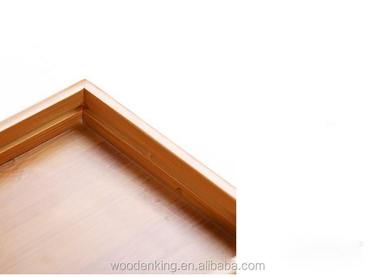Usine en gros bureau petit rectangulaire bambou thé plateau