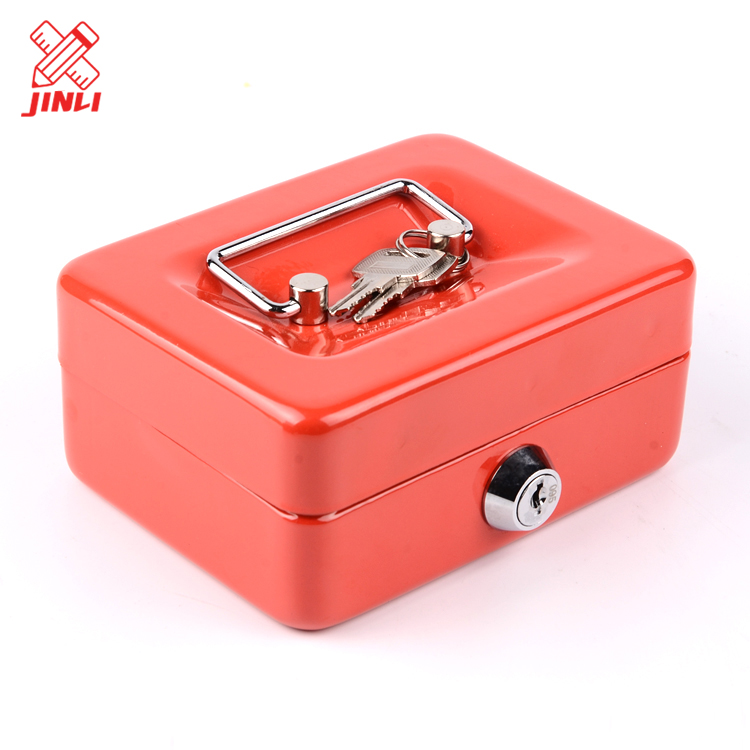 China new products protection multiple compartment trays safe portable metal money cash box .