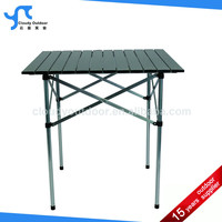 roll up top quick small square folding table