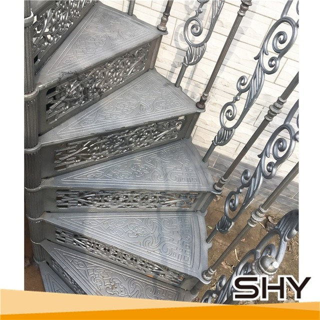 Hot Sale Cast Iron Spiral Stair Parts Used Spiral Staircase Wrought Iron  Spiral Stair
