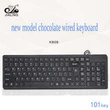Vendita calda Ultra Slim wired <span class=keywords><strong>101</strong></span> tasti standard del silicone computer keyboard per desktop