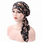 Fashion Accessories Super Soft Colorful Flower Scarf Hat Cotton Ladies Muslim Turban Bandana