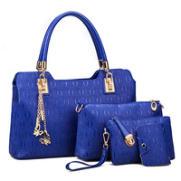 Fashion leather women's bag, high quality composite bag for lady