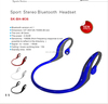 2015 Colorful bluetooth running earphones/noise cancelling earphones/headset with mic