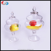Wholesale Christmas Kitchen tall clear Glass Storage Jar Candy mini candy jars glass jar