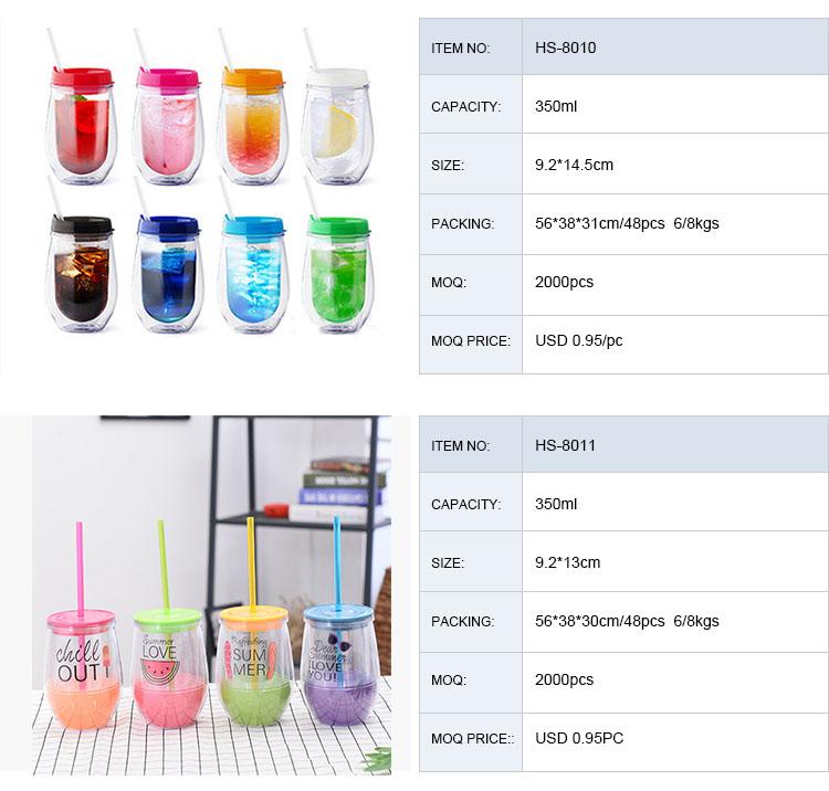 16oz Commercio All'ingrosso di Vendita Calda BPA Libero Singola Parete di Plastica Bicchiere Muratore Vaso Con Manico