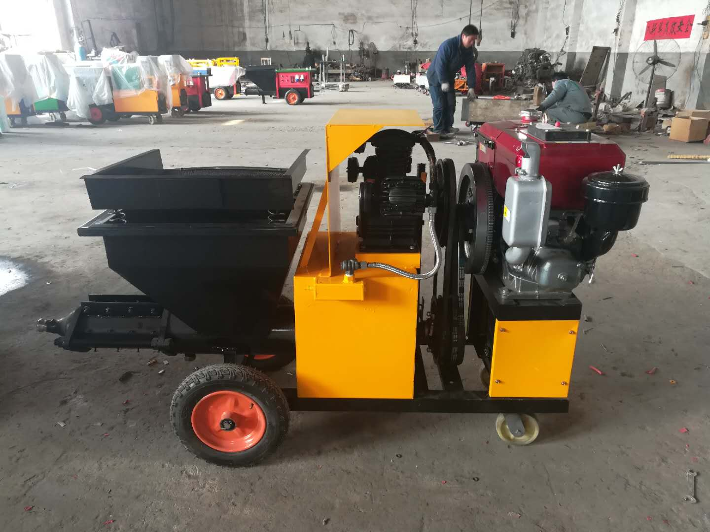 diesel drive professional dry mix concrete spray machines