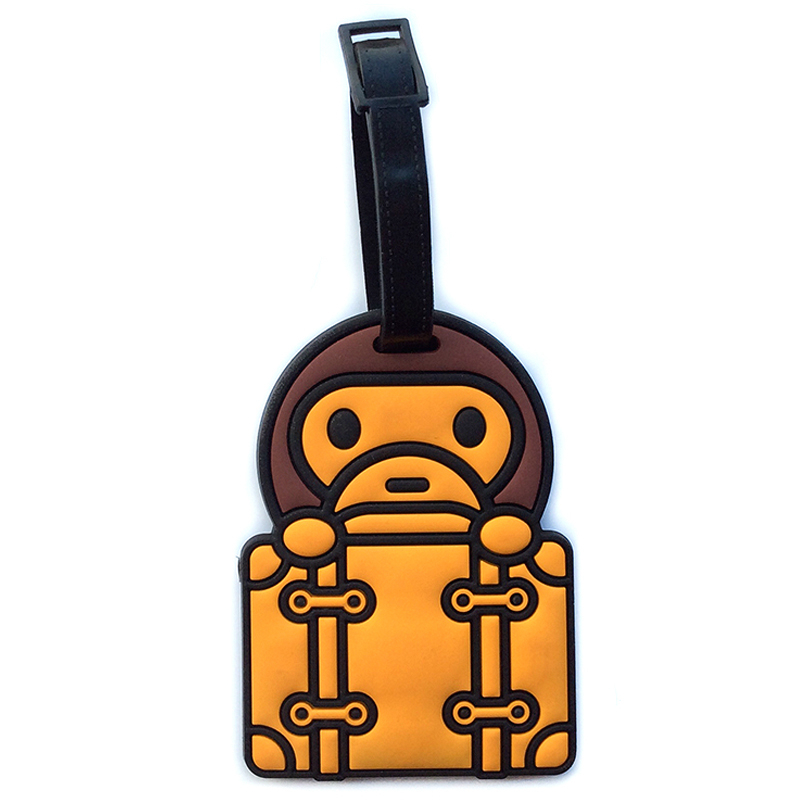 Lovely Travel Using Cheap Colorful Custom PVC Luggage Tag