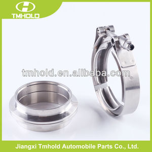 3.5 inch 304ss T bolt V-band turbocharger clamps for muffler downpipe
