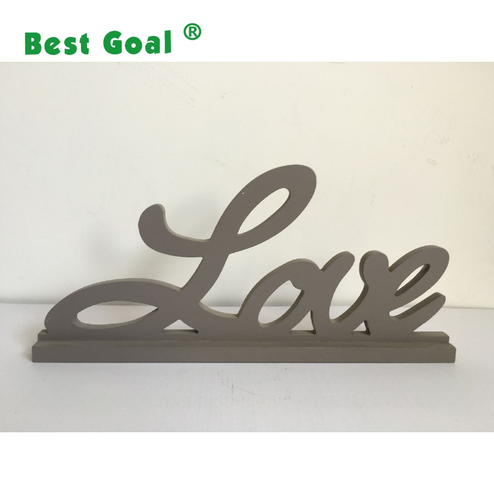 LOVE word wooden articles