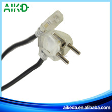 2015 new product good material 2 pin ac power cord plug