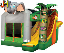 Commercial Inflatable Elephant Bouncer, Inflatable Bouncy Castle Slide Combo