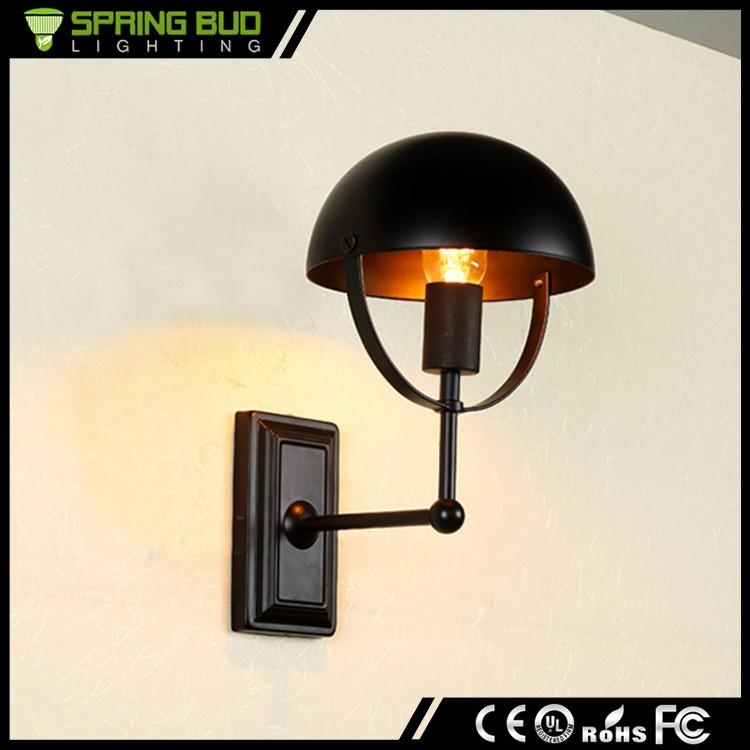 2016 New Design Vintage Wall Lamp Black Rustic Semicircular ...