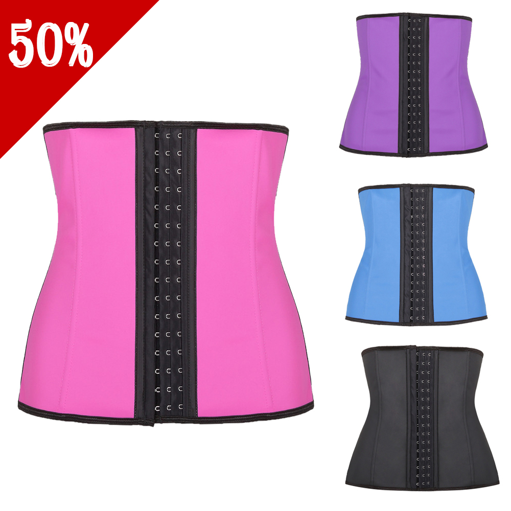 5f886a251d7 Get Quotations · 2015 Women Latex Waist Training Corsets Hot Shapers Waist  Trainer Latex Waist Cincher trainers Plus Size