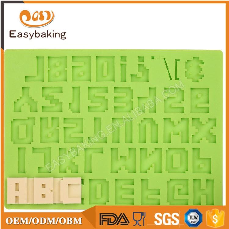 ES-6015 Alphabet Fondant Mould Silicone Molds for Cake Decorating