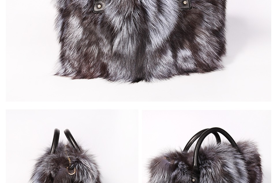 Wholesale Multicolor Real Fox Fur Bag For Women With Single Strap ... ad7ee3a93ea0a