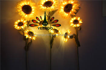 Party Decoration Led Decorative Sunflower Lights Fake Flower Light Up Artificial Plastic